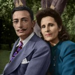 Dalí y Gala - Foto coloreada