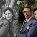 Dalí y Gala - Foto original / coloreada